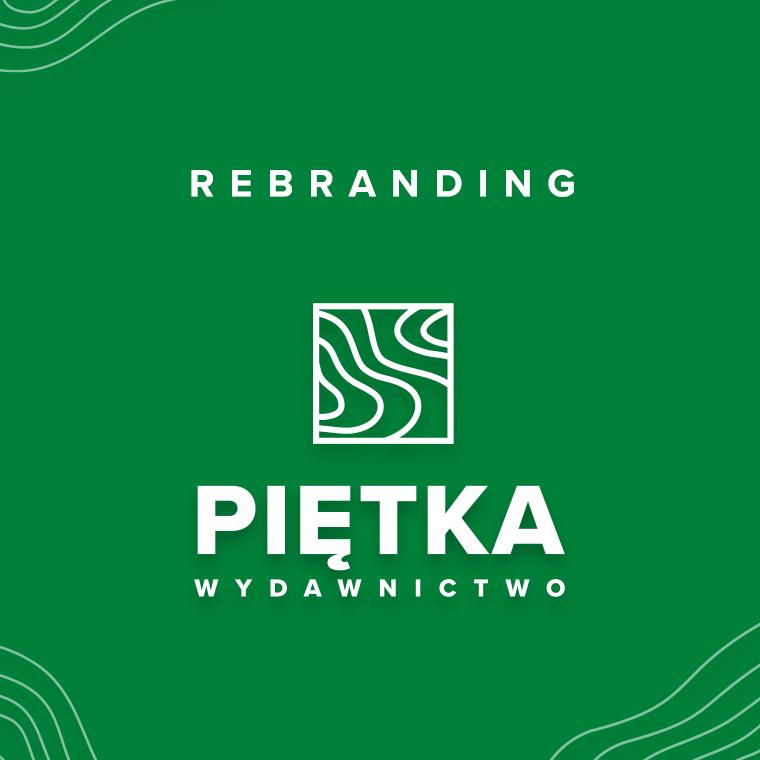 Grafika prezentująca nowe logo Wydawnictwa Piętka